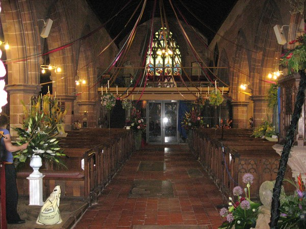 Worfield Flower Festival 2010 - A view down the centre aisle