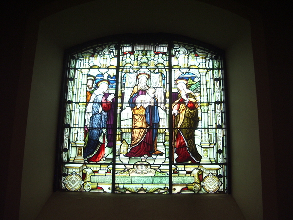 St Johns in the Square: Stained glass