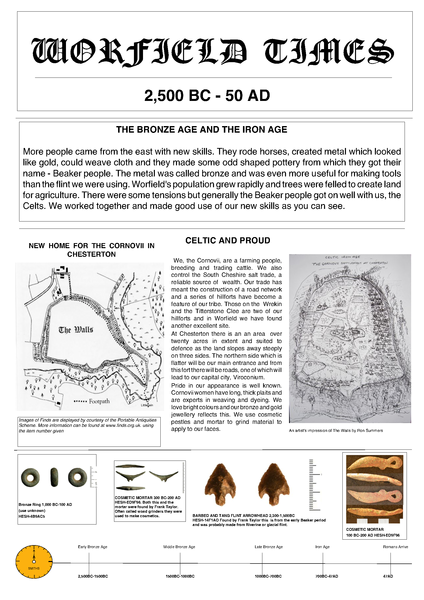 Bronze Age and Iron Age in Worfield