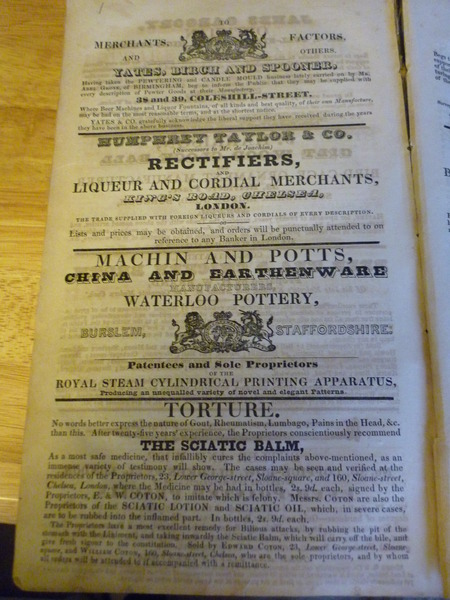 ADVERTISEMENTS FOR VARIOUS MERCHANTS OF THE DAY
