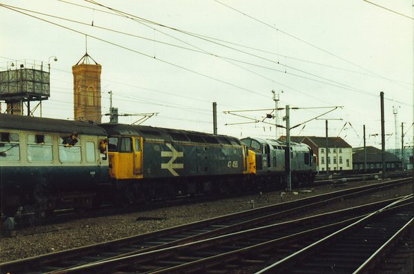 34104 + 47456 at Leeds with a Carlisle train