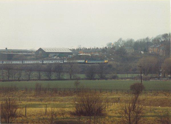 47475 approaching Dewsbury, Feb 1990
