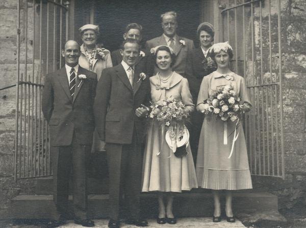 Fred & Arlene Hartley - Wedding 1956