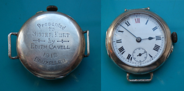 Wristwatch given to Sister Burt by Edith Cavell 1912 Bruxelles (Brussels)