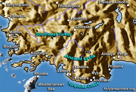 Lycia/Caria/Turquoise/Mediterranean Coast