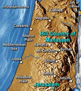 Hill Country of Manasseh/Samaria (5 folders)