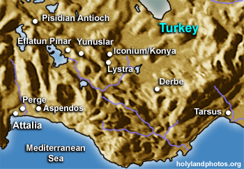 Iconium to Pisidian Antioch
