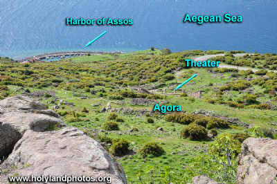 Assos: Agora, Necropolis, Theater