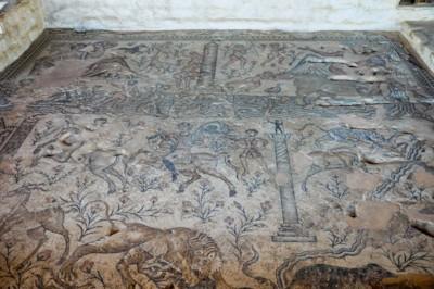 Sepphoris Nile Festival Building Mosaics
