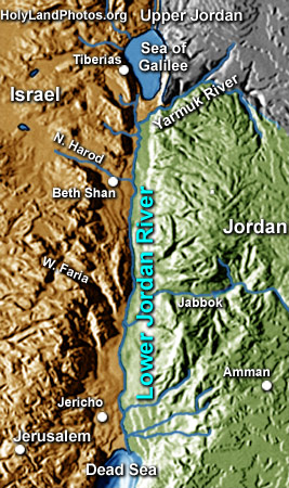 Lower Jordan River (3 images)