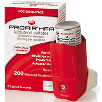 Proair Dc Produ Hfa Albuterol Dosage Indication Interactions
