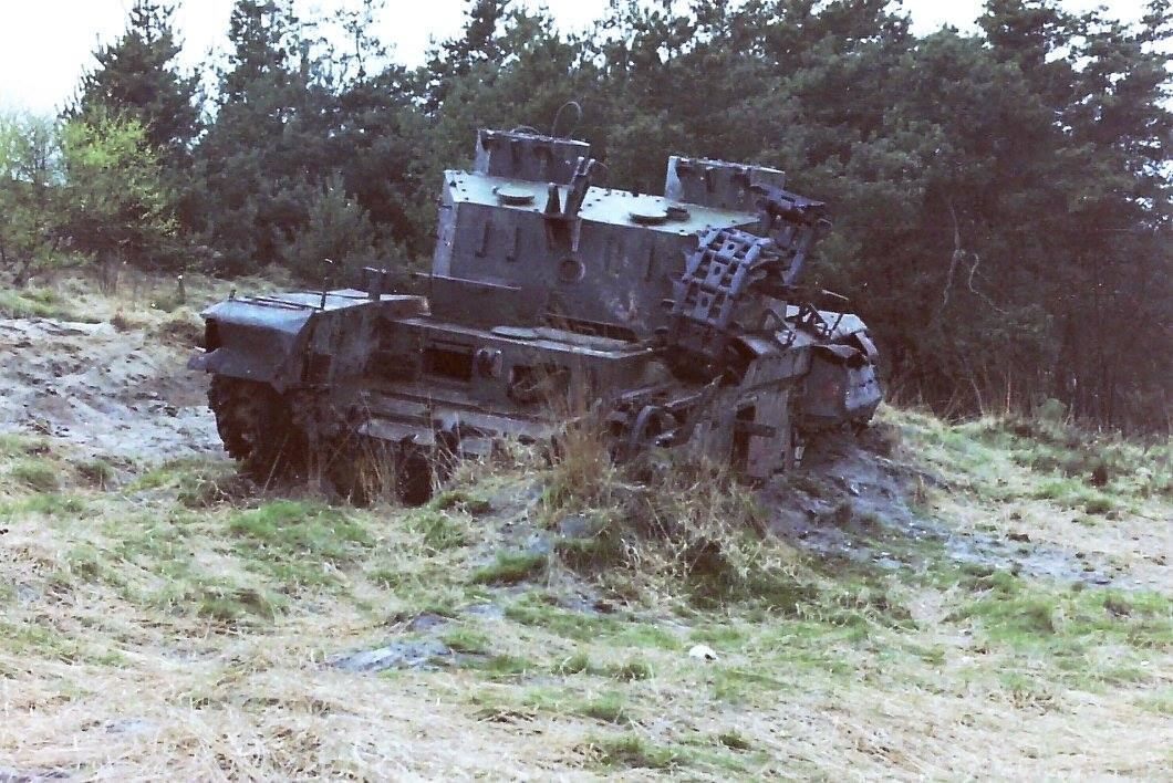 Range wreck irish guards munster 1980s.jpg