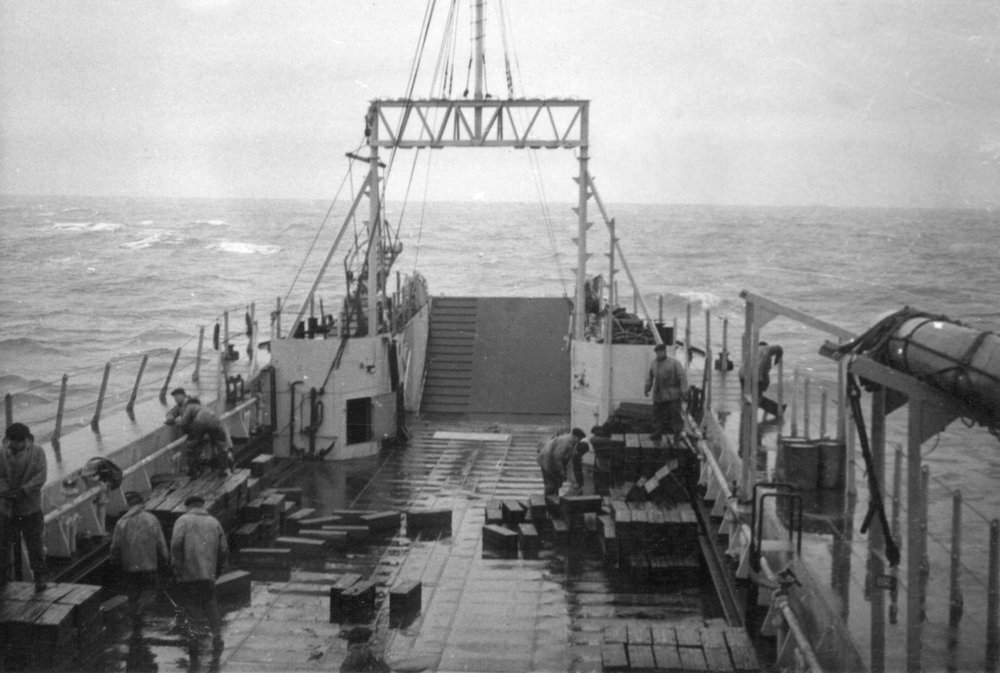 dumping ammo in the sea 1957 photo 2.jpg