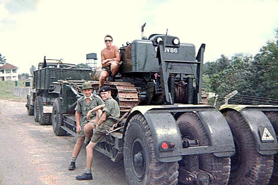 Scammell and tasker loaded at Seletar.jpg