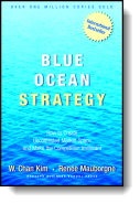 Book cover for 'Blue Ocean Strategy'