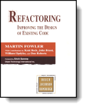 Book cover for 'Refactoring: Improving the Design of Existing Code'