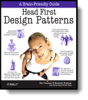 Book cover for 'Head First Design Patterns'