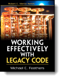 Book cover for 'Working Effectively with Legacy Code'