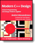 Book cover for 'Modern C++ Design'