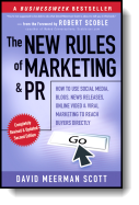 Book cover for 'The New Rules of Marketing and PR'