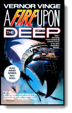 Book cover for 'A Fire Upon the Deep'
