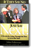 Book cover for 'Just say Next!'