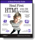 Book cover for 'Head First HTML with CSS & XHTML'