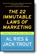 Book cover for 'The 22 Immutable Laws of Marketing'