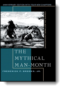 Book cover for 'The Mythical Man-Month'