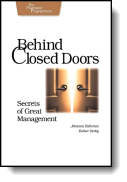 Book cover for 'Behind Closed Doors'