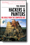 Book cover for 'Hackers & Painters'