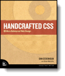 Book cover for 'Handcrafted CSS'