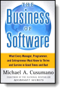 Book cover for 'The Business of Software'