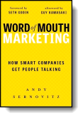 Book cover for 'Word of Mouth Marketing'