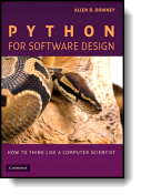 Book cover for 'Python for Software Design'