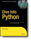 Book cover for 'Dive Into Python'