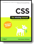 Book cover for 'CSS: The Missing Manual'