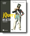 Book cover for 'jQuery in Action'