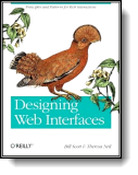Book cover for 'Designing Web Interfaces'