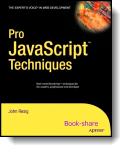 Book cover for 'Pro JavaScript Techniques'