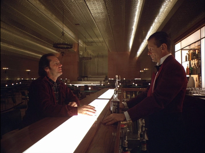 Great Moments in Cinematic Drinking:The Shining photo