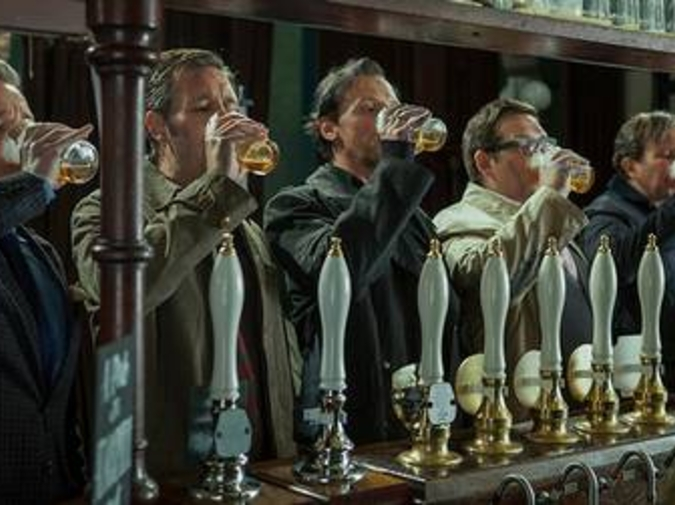 GREAT MOMENTS IN CINEMATIC DRINKING: The World's End photo