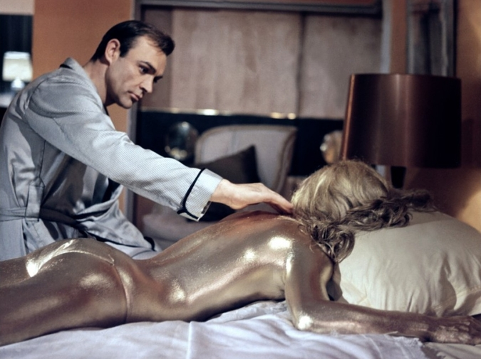 Great Moments in Cinematic Drinking:Goldfinger photo