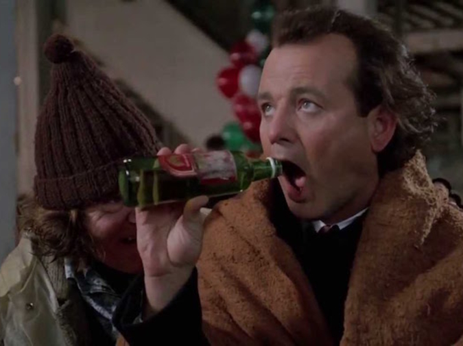 Great Moments in Cinematic Drinking:Scrooged photo