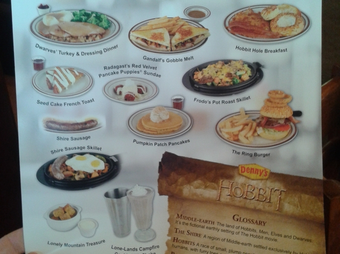 One Creature's Review of the Denny's Hobbit Menu photo