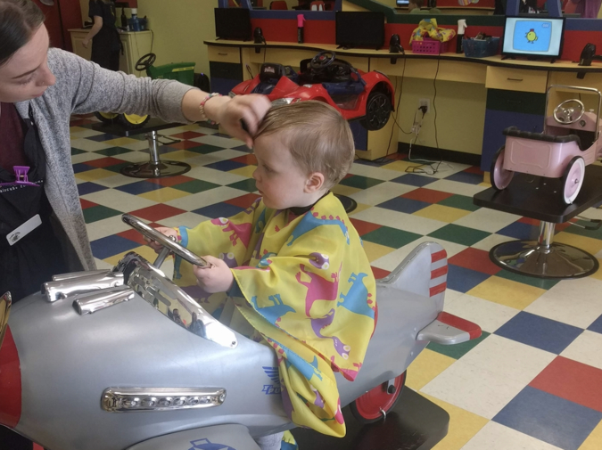 My Son's First Haircut photo