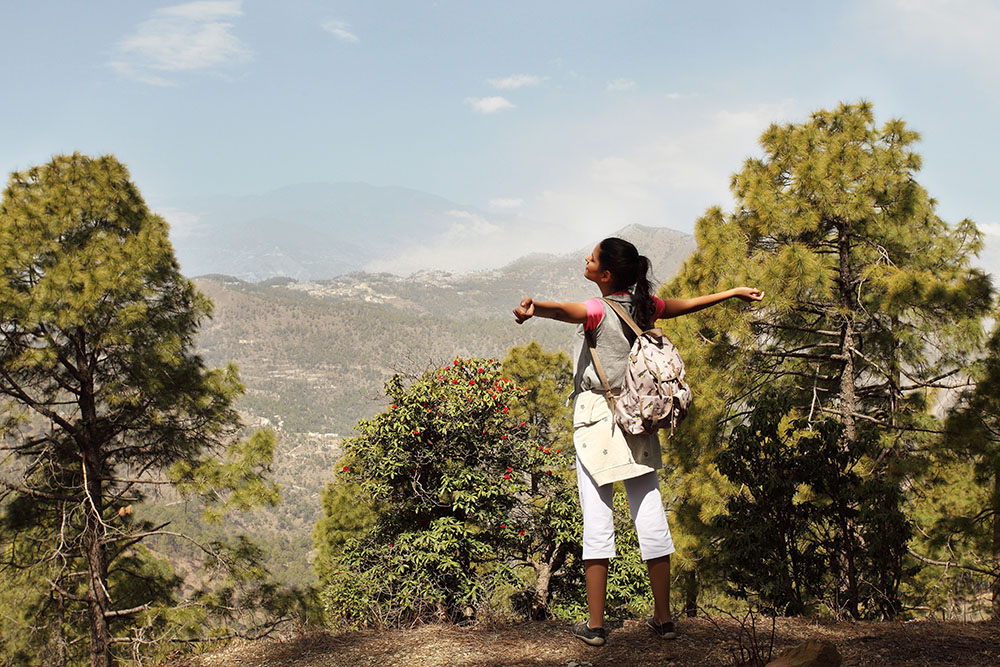 Ananda Wellness retreat mountain walks himalayas