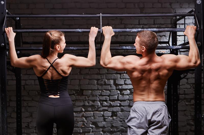 Vegan woman man fitness gym