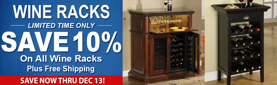10% Off Wine Racks