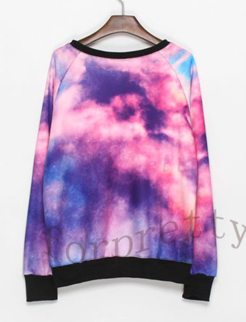 Women 39 s galaxy space starry print flannel long sleeve for Space flannel